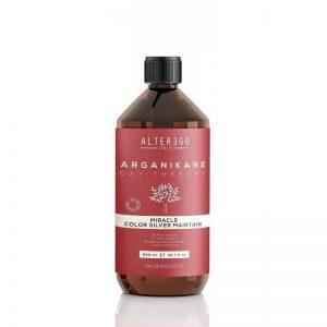 Le shampoing anti-jaunissement de la gamme Miracle Color d'Alter Ego est un shampoing nourrissant pour cheveux décolorés ou gris qui diminue les reflets jaunes indésirables des mèches, des cheveux éclaircis par le soleil ou décolorés. Il donne un effet blancheur sur les cheveux gris.  Utilisation:  Appliquer sur les cheveux mouillés et faire mousser  Bien rincer  Répéter le shampoing et laisser agir pendant 1 à 3 minutes sur les cheveux blonds décolorés et 3 à 5 minutes sur les cheveux gris