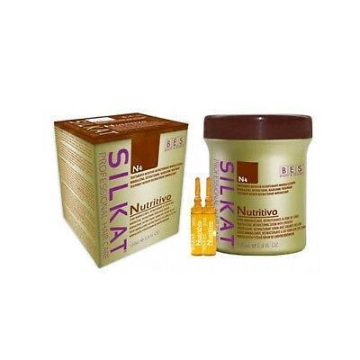 Ampoules nutritivo à base d'huile de lin et d'acides aminés. Travail à la restructuration interne du cheveu, hydrate et nourrit. Laisse les cheveux soyeux et brillants. À utiliser sur cheveux mouillés et propres. Rincer.