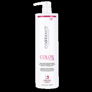 Soin lavant prolongateur de couleur au tournesol protecteur et au quinoa antioxydant.