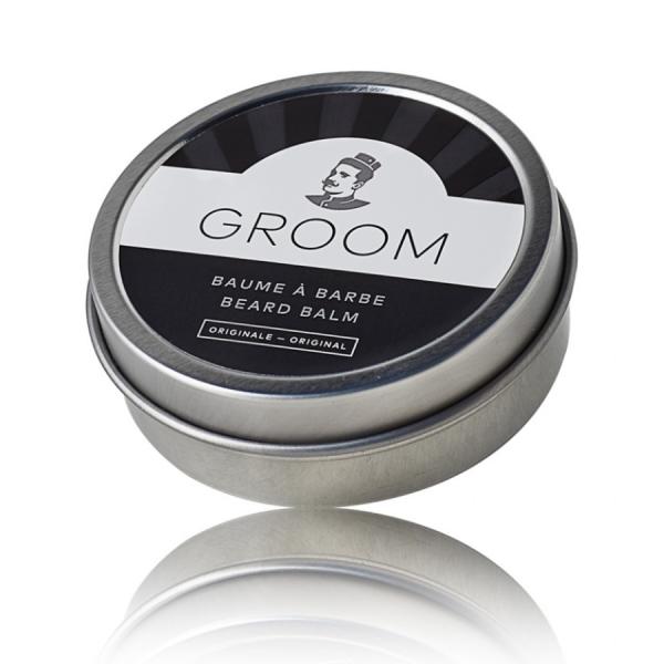 Baume pour aider à coiffer, à base de cire d'abeille, de beurre de karité, de pin, de bois de cèdre, de bergamote et de lavande pour nourrir, contrôler les poils rebelles et protéger la barbe.