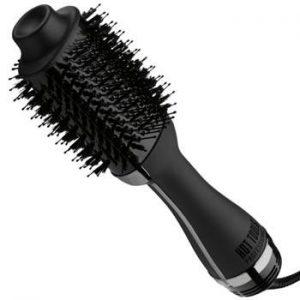 Combiné brosse-séchoir avec titane micro-shine. Sèche et coiffe en près de deux fois moins de temps, Effet volumateur professionnel. Contribue à réduire le frissonnements