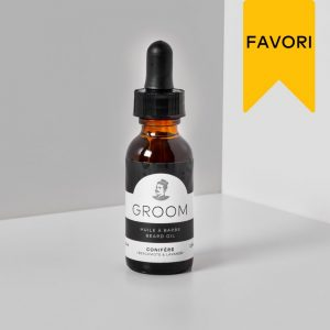 Huile à Rasage Conifère bergamote&lavande Groom procure une hydratation et un meilleur confort lors du rasage.