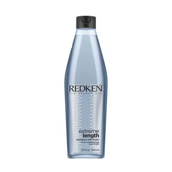 Shampoing enrichie de biotine. Pour cheveux en recherche de force et de longueur. Utiliser comme système de soin complet avec l'après-shampoing et le traitement sans rinçage Extreme Lenght. Approprié pour les cheveux colorés.