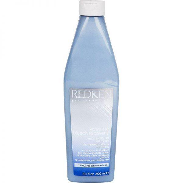 Shampoing doux fortifiant pour cheveux décolorés, abîmés. Avec centella asiatica. Augmentez la résilience des cheveux après un service éclaircissant avec le système Extreme Bleach Recovery.