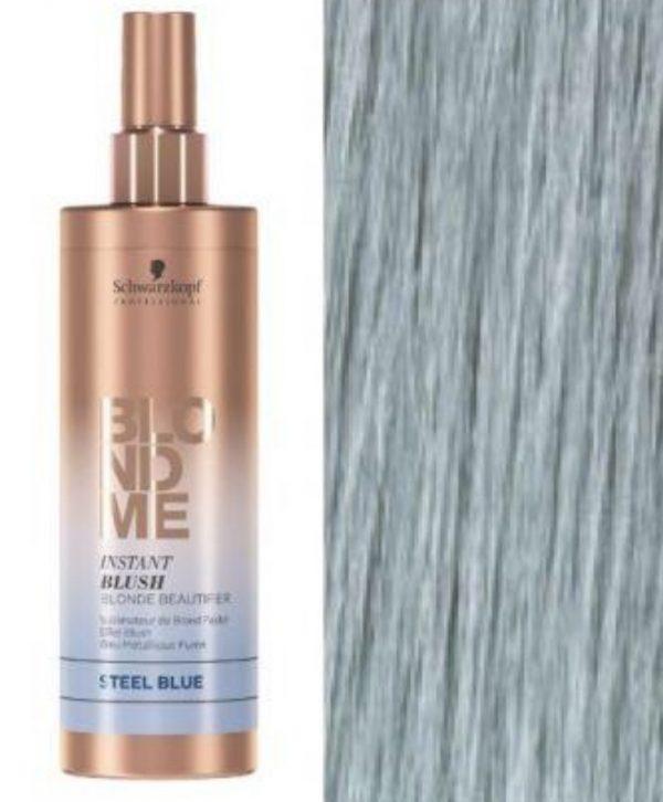 Schwarzkopf a développé un produit «Instant Blush» qui va rapidement et efficacement tonifier ou colorer temporairement vos cheveux. Il est disponible en quatre teintes différentes. Pour neutraliser des reflets cuivrés ou obtenir une teinte bleu acier. Équilibre et renforce les cheveux grâce à une formule au PH acide et au complexe vitamine.