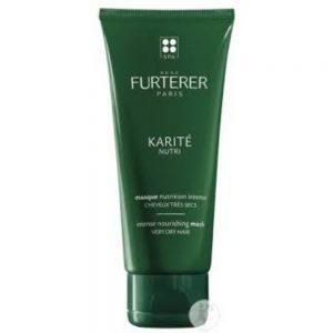 Masque Cheveux Très Secs Karité Nutri René Furterer, régénère et nourrit les cheveux en profondeur pour une chevelure plus douce, brillante et parfaitement démêlée. sans silicone.
