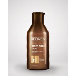 Shampoing All Soft mega Redken nourrit les cheveux extrêmement secs et rêches. Avec formule de PH balancé.