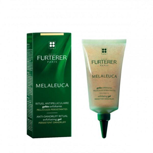 Gelée exfoliante pellicules libres MELALEUCA René Furterer purifie durablement le cuir chevelu. Il procure une sensation de bien-être oxygénant grâce au actions rafraîchissantes et apaisantes du menthol.