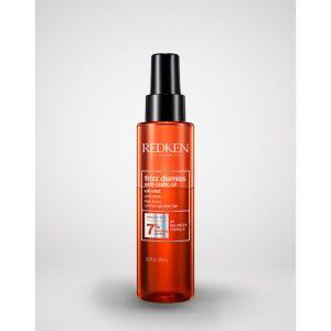 Huile antistatique en spray frizz dismiss Redken aide les cheveux indisciplinés et difficiles à lisser, à ce placer. Avec de l'huile de Babassu et une formule de PH balancé.