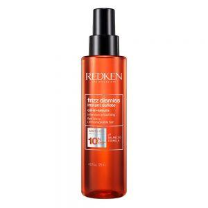 Huile sérum frizz dismiss instant deflate Redken est un spray ultra lissant pour les cheveux indisciplinés et difficiles à lisser. Avec de l'huile de Babassu et une formule de PH balancé.