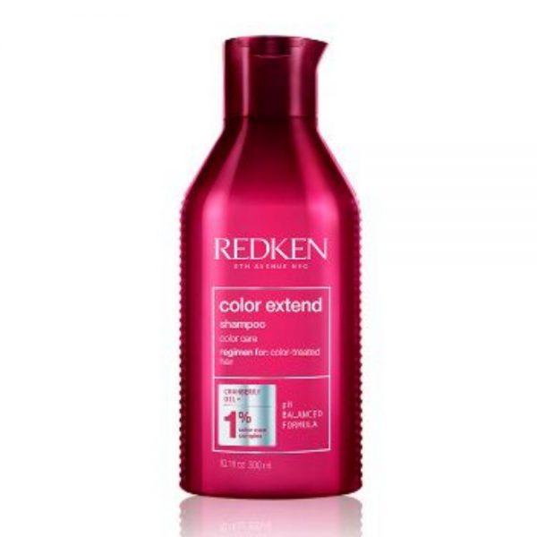 Shampoing color extend Redken est un soin pour cheveux colorés. Avec de l'huile de canneberge et une formule de PH balancé.
