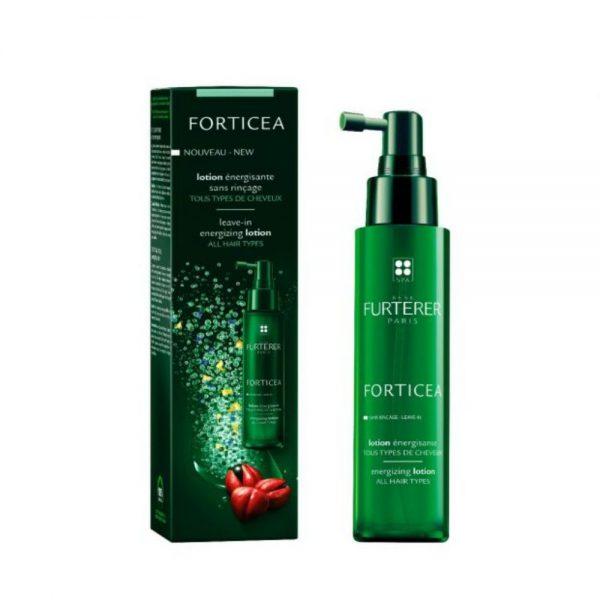 La lotion énergisante sans rinçage, Forticea Rene Furterer, préserve l'équilibre du cuir chevelu tout en apportant une sensation de fraîcheur et de pureté. les cheveux sont plus vibrants d'énergie, fortifiés et faciles à coiffer. sans silicone.