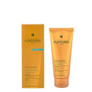 Masque nutri-réparateur intense cheveux sensibilisés SOLAIRE René Furterer, nourrit, restructure et répare en profondeur les cheveux sensibilisés par le soleil, pour un résultat brillant et soyeux.