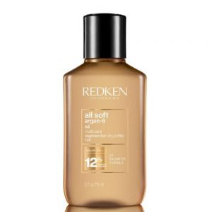 Huile All Soft argan-6 de Redken est une multi-soin pour cheveux secs et cassants. Avec une formule de PH balancé.