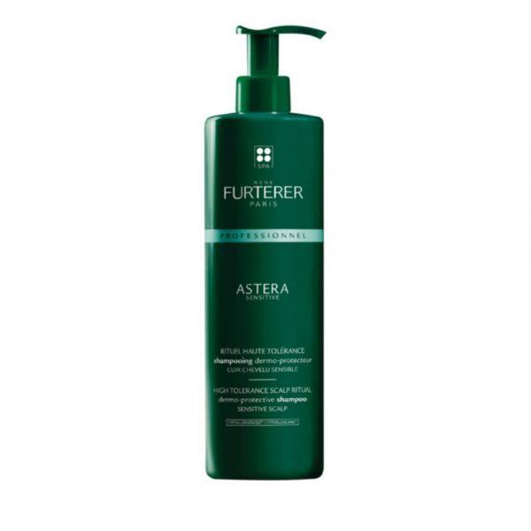 Shampoing dermo-protecteur ASTERA sensitive Rene Furterer, le rituel haute tolérance pour les personnes ayant le cuir chevelu sensible. Hypoallergénique.
