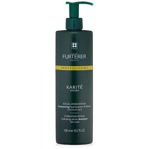 Shampoing hydratation brillance KARITÉ HYDRA René Furterer pour cheveux secs. Hydratés, les cheveux sont faciles à coiffer, souples et brillants.