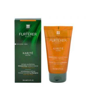 Shampoing nutrition intense Karité René Furterer pour cuir chevelu et cheveux très secs et abîmés. Renferme 12% d'huiles nutritives de Coprah et de Karité, pour une nutrition intense du cuir chevelu et des cheveux. Les cheveux sont revitalisés, soyeux et lumineux. sans silicone.