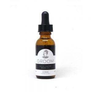 GROOM Huile à barbe Beard Oil Citrus herbes&mer 1oz